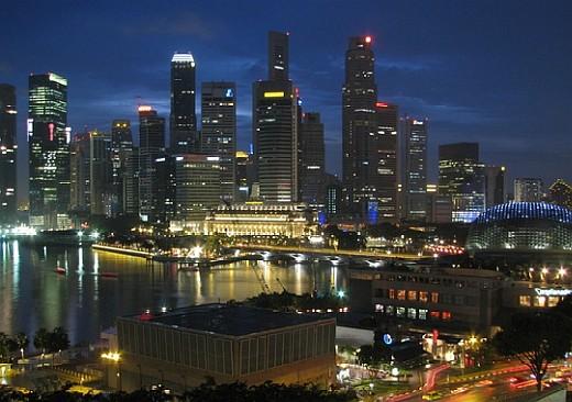 night view of singapore